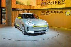 在IAA的微型电概念汽车 免版税库存图片