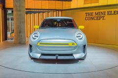 在IAA的微型电概念汽车 库存图片