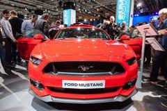 在IAA的新的Ford Mustang 2015年 免版税库存照片