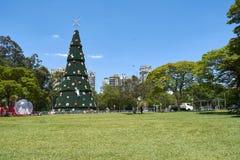 在Ibirapuera的圣诞树在圣保罗市 库存照片