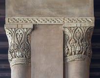 在Ibn Tulun历史的公开清真寺,开罗,埃及的装饰柱头 免版税库存照片