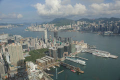 在ICC的尖沙咀视图香港isaland 库存照片