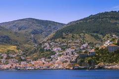 在Idra海岛上的看法 免版税图库摄影