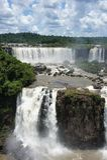 在Igussu的看法在南美下跌 库存照片