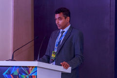 在IIJS 2015年Inaugration的Nirav Bhansali 免版税库存照片