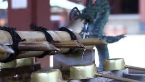 在Ikegami honmonji寺庙的洗净低谷在东京 股票录像