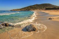 在Ile鲁塞附近的博德里海滩在可西嘉岛 库存照片