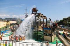 在Illa幻想曲水公园的水吸引力 免版税库存图片