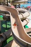 在Illa幻想曲水公园的水滑道 免版税库存照片