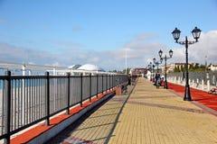 在Imeretiskiy kurort的堤防在索契 库存照片