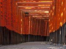 在Inari寺庙的花托 免版税库存图片