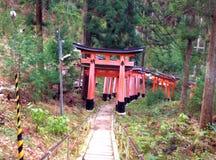 在Inari寺庙的Torii 库存图片
