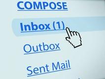 在inbox的电子邮件 库存照片