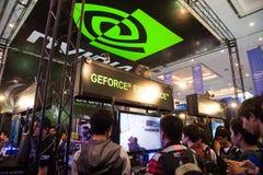 在Indo电视知识竞赛的Nvidia 2013年 图库摄影