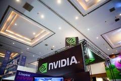 在Indo电视知识竞赛的Nvidia 2013年 库存图片