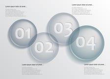 在infographic的行的Circel 免版税图库摄影