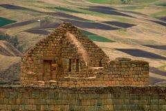 在Ingapirca,厄瓜多尔的El Castillo 免版税图库摄影