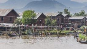 在Inle湖的生活 免版税库存图片