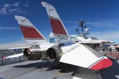 在Interpid博物馆的格鲁门F-14 Tomcat 免版税图库摄影