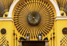 在Invereray里面苏格兰城堡的狩猎步枪  免版税库存图片