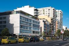 在Ipanema海滩前面的大厦 免版税图库摄影