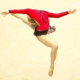 在Irina Deleanu战利品期间,体操运动员执行 库存照片