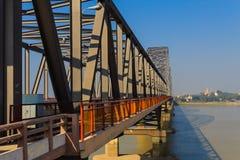在Irrawaddy的阿瓦桥梁,缅甸的(Burmar)实皆 图库摄影