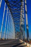 在Irrawaddy的阿瓦桥梁,缅甸的(Burmar)实皆 免版税库存照片