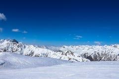 在ischgl的山 库存照片