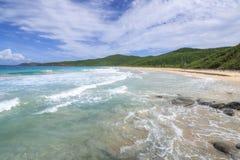 在Isla Culebra的Resaca海滩 库存图片