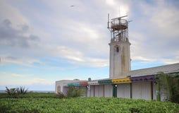 在Isla Mujeres,墨西哥的灯塔 免版税库存照片