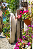 在Isola dei Pescatori的Picturesques街道 库存图片