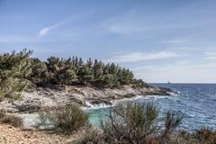 在Istria的Kamenjak 库存照片