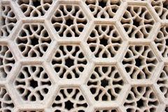 在ITMAD-UD-DAULAH坟茔的窗口  免版税图库摄影