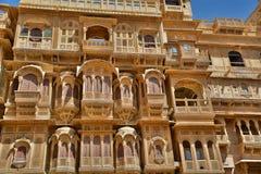 在Jaisalmer堡垒的老haveli 拉贾斯坦 印度 图库摄影