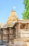 在Jaisalmer里面,拉贾斯坦金黄堡垒的印度寺庙  库存照片
