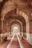 在Jama Masjid清真寺里面 免版税库存照片