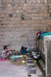 在Jamia Masjid清真寺,迈索尔,印度的公开礼节洗涤区域 免版税库存图片