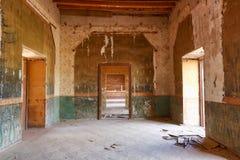 在jaral de berrio的退色的室内部放弃了大牧场 库存图片