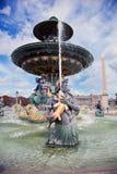 在Jardin des Tuileries巴黎,法国的喷泉。 免版税库存图片