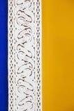 在Jardin Majorelle的大厦细节在马拉喀什 库存照片