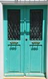 在jarusalem的绿色门 库存照片