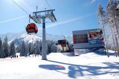 在Jasna低Tatras的空中览绳岗位 图库摄影