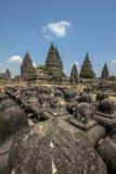 在Java海岛,印度尼西亚上的巴兰班南寺庙 库存照片