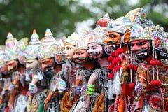 在Java,印度尼西亚的剧院木偶 库存图片