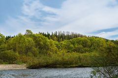 在Jeb河的秋天 免版税库存图片