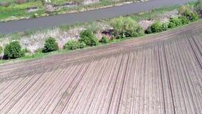 在Jegricka河和自然公园春天的,伏伊伏丁那,塞尔维亚,欧洲上的飞行 影视素材