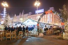 在Jelacic广场的出现照明 免版税库存图片