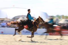 在Jereed比赛的行动-土耳其语Cirit Sporu 免版税库存照片