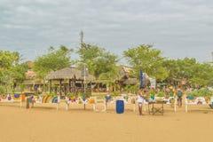 在Jericoacoara巴西的沙子街道 图库摄影